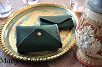 イタリアンレザー・ブッテーロ・2つ折りコインキャッチャー財布とキーケース・時を刻む革小物 - 時を刻む革小物 Many CHOICE~ 使い手と共に生きるタンニン鞣しの革