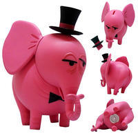 Shagの頼りないピンクの象の貯金箱 - 下呂温泉 留之助商店 店主のブログ