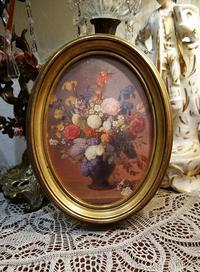 木製金彩楕円額840Hold - スペイン・バルセロナ・アンティーク gyu's shop