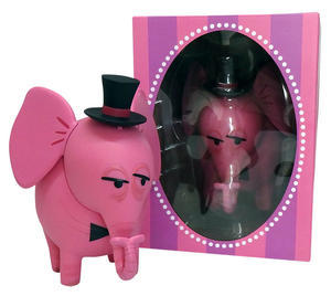 Pink Elephant Coin Bank Top Hat Edition by Shag - 下呂温泉 留之助商店 入荷新着情報