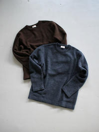 BETTERFELTED WOOL CREW NECK PULL-OVER - 『Bumpkins putting on airs』