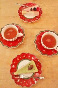 久しぶりの抹茶ババロアケーキ☆ - ドイツより、素敵なものに囲まれて②