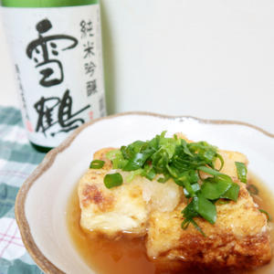 揚げ出し豆腐を雪鶴で - 焼酎始めました♪日本酒も♪ワインも♪