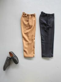 BRENAWOOL MELTON STRING TROUSERS - 『Bumpkins putting on airs』