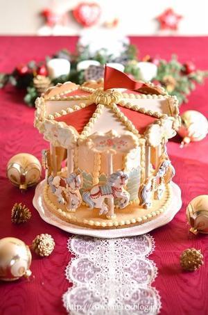 もういちど、メリーゴーランドアイシングクッキー  Homemade Carousel Icing Cookies - お茶の時間にしましょうか-キャロ&ローラのちいさなまいにち- Caroline & Laura's tea break
