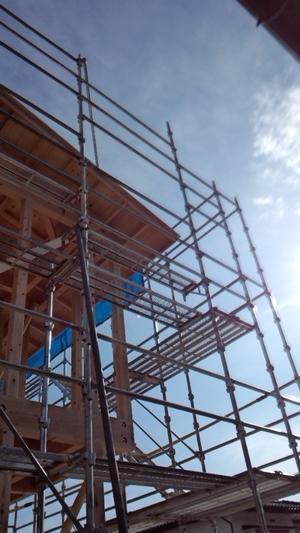 伊那市で設計事務所の家づくり 南箕輪のコートハウス『工事監理上棟式』 -