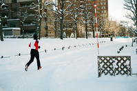 雪上ジョガーと原稿の書き直し - 照片画廊