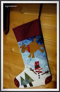 クリスマスブーツ - キルトとステッチ時々にゃんこ