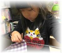 年長娘、初めてのお裁縫☆(ティッシュケース) - ARTY NOEL