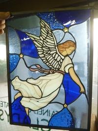 天使のパネル - atelier GLADYS  ステンドグラス工房 作り手の日々