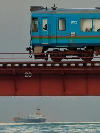 冬の貨物船 - 今日も丹後鉄道