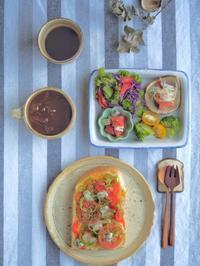 ピザトーストの朝ごはん - 陶器通販・益子焼 雑貨手作り陶器のサイトショップ 木のねのブログ