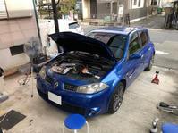 メガーヌ2/RSアーシング施工 - 「ワッキーの自動車実験教室」 ワッキー@日記でごじゃる