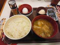 12/20  カレー豚汁たまかけ朝食¥380@すき家 - 無駄遣いな日々