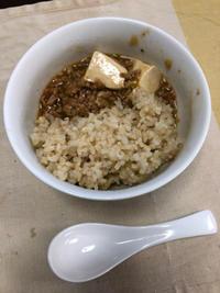 麻婆丼 - 庶民のショボい食卓