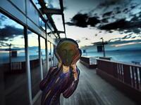 ムンク海ぼたるで叫び - 風の香に誘われて 風景のふぉと缶