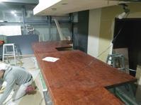 アフリカンローズ(ブビンガ)カウンター納品 - 一枚板テーブル、無垢材家具 原木家具の祭り屋