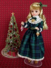 クリスマスのグリーンのチェックのドレス -  Der Liebling ~蚤の市フリークの雑貨手帖2冊目~