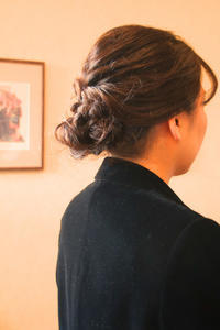 結婚式お呼ばれヘアヘアアレンジシニヨン髪型結婚式コーデさくら市美容室エスポワール - 美容室エスポワール