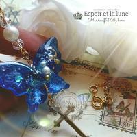 ゴシック調の蝶のネックレス - Espoir et la lune