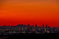 夜明け、都会の眺め - デジカメ写真集