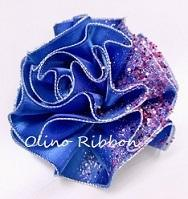 Christmas Shine Blue Rose~ finished - 私らしく輝いて*  毎日が Ribbon Days *