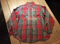 50's Sweet-Orr cotton flannel shirt - BUTTON UP clothing