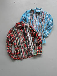 Rebuild By NeedlesFlannel Shirt → Ribbon Gather Shirt - 『Bumpkins putting on airs』