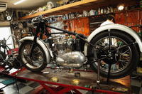 1951TRIUMPH T100 キャブ取り付け - Vintage motorcycle study