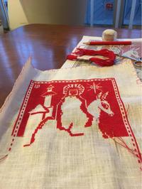 2018 Cristmas Calendar in Cross-Stitch  マリアとイエス  ④ - いとの色