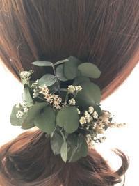 ユーカリの髪飾り - プリザーブドフラワーアレンジメント制作日記