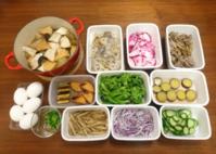 2018/12/24常備菜(大根と厚揚げの煮物など)*おくさんきちとかフランボワーズのフランとか - お弁当と春の空