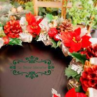 『Christmas Wreath』 - カルトナージュ教室 & ハンドクラフト教室 ~ La fraise blanche ~ ラ・フレーズ・ブロンシュ