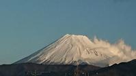 12月24日、クリスマスイブの我が家から見た富士山です -   心満たされる生活