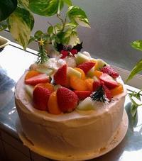 昨日焼いたシフォン無事にクリスマスケーキへと進化 - 風恋華Diary