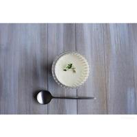 りんごのピュレと柚子のレアチーズ - cuisine18 晴れのち晴れ