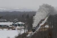 雪景色に逆三角形に立ち上る煙- 2018年・釧網線 - - ねこの撮った汽車