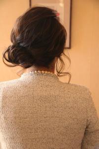 結婚式七五三母お呼ばれヘアヘアアレンジシンプルヘア大人髪型結婚式コーデさくら市美容室エスポワール - 美容室エスポワール