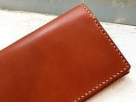 革の長財布 - Pistachio green