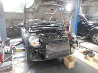 BMWミニ(R56)エンジンチェックランプ点灯修理とエアコン修理 - 掛川・中央自動車