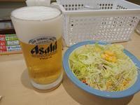 12/26夜勤明け  牛焼肉ラージ定食 ¥750 & 生ビール ¥180 × 2杯 @ 松屋 - 無駄遣いな日々