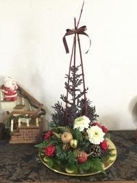 12月のフラワーアレンジレッスン - coco diary 山口県 お花と絵と楽しいティータイム