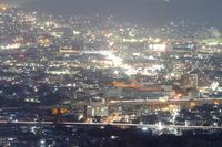 新幹線と夜景① - 新幹線の写真