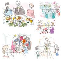 結婚情報誌「こまちWedding」イラスト - 女性誌を中心に活動するイラストレーター ★★清水利江子の仕事ブログ