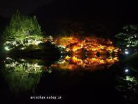 栗林公園のライトアップ紅葉、和船からの眺め@高松 - アリスのトリップ