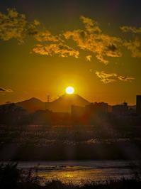 2018.12.28ダイヤモンド富士(多摩川富士見町) - ダイヤモンド△△追っかけ記録