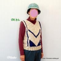 鉤針編みのベスト♪ - ルーマニアン・マクラメに魅せられて