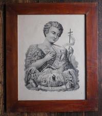 幼い洗礼者ヨハネと神の子羊 石版画 19世紀 F895 - Glicinia 古道具店