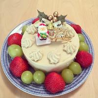 迷った末のクリスマスケーキ!卵、乳、小麦、大豆不使用です - 食日和 ~アレルギーっ子と楽しい毎日~