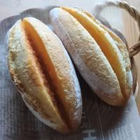 めんたいフランスとビスケットパン - こどもとおやつと、ときどきてづくり